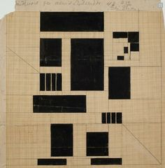 "Th. van Doesburg. ""El buscador"". Composición en cristal manchado, ca 1917-1928. Bruiklenen van Instituut Collectie Nederland, Rijswijk/Amste..."
