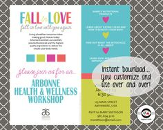 Fall in Love with You Instant Download Social Media Invitation: Healthy Living…