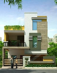 Single Floor Modern House Elevation Exciting Small House Front Elevation Architectures Home Bungalow Haus Design, Duplex House Design, Modern House Design, Single Floor House Design, House Front Design, Independent House, Building Elevation, House Elevation, Indian House Plans