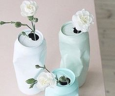 for the right event these are fun.DIY upcycling of cans with spray paint / Vase aus Dose selber machen Diy Tumblr, Diy Y Manualidades, Diy Casa, Ideias Diy, Diy And Crafts, Diy Projects, Canning, Handmade, Gifts