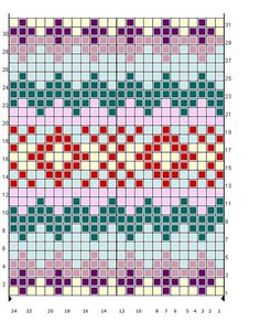 fair+isle+pattern | Material needed: 200 – 350 g of main colour (MC) and six other ...