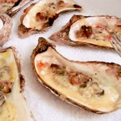 Baked Oysters with Irish Cheddar and Bacon