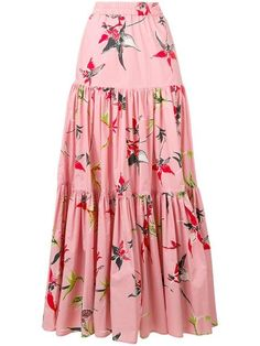La Doublej long printed skirt skirt skirt skirt skirt outfit skirt for teens midi skirt Midi Rock Outfit, Midi Skirt Outfit, Skirt Outfits, Dress Skirt, Modest Outfits, Swag Dress, Summer Outfits, Dress Shoes, Long Sleeve Floral Dress