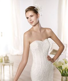 ONTINA » Wedding Dresses » 2014 Dreams Collection » Pronovias (close up)