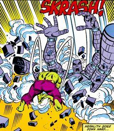 Megalith goes down hard!! #hulk