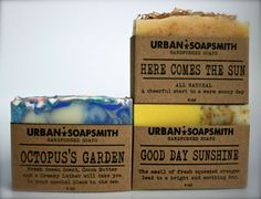 English Trio Soap Set  Cold Process Soap Cocoa by UrbanSoapsmith