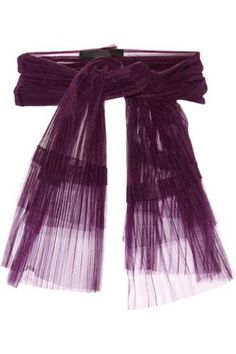 Dragonfly pleated tulle belt #accessories #covetme #Burberry Prorsum