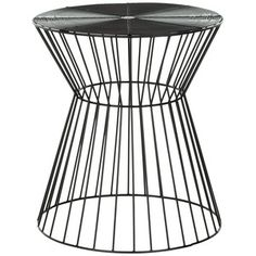 Iron Wire Stool Black Epoxy now featured on Fab.