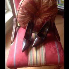 REDUCED!Beautiful Gucci heels made in Italy 7.5 Gorgeous cocoa brown pointy toe but not too pointy. Never worn except to try on. There is a minute spot on the heel -see third photo; but nothing that detracts from this pair! Would look very sexy on you:) . Always willing to negotiate and bundle,if preferred. Thank you for checking this out! Gucci Shoes Heels