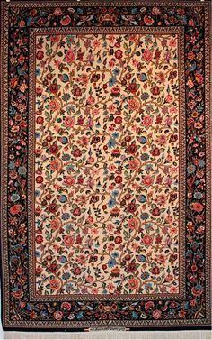 600 Knots Per Square Inch Authentic Persian Esfahan Rug