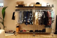 My standing closet is handy, but I love the double. Make A Closet, How To Organize Your Closet, Simple Closet, Room Closet, Guest Bedroom Decor, Home Bedroom, Guest Room, Bedrooms, Standing Closet