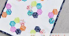 Hexie mini quilt tutorial