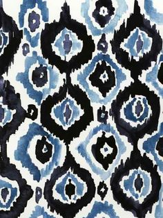 Love this print + reminds me of flow blue.