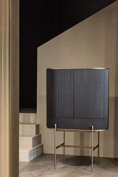 Shake Stand on Behance Cabinet Furniture, Bar Furniture, Luxury Furniture, Modern Furniture, Furniture Design, Interior Desing, Studio Interior, Interior Design Inspiration, Interior Decorating