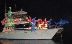 Boat light display in Florida.