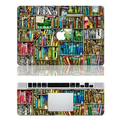 BOOK HOUSE----Mac Full Cover decal Macbook Decals Macbook Stickers Macbook Pro decals Macbook Air decals Vinyl decal for Apple Mac