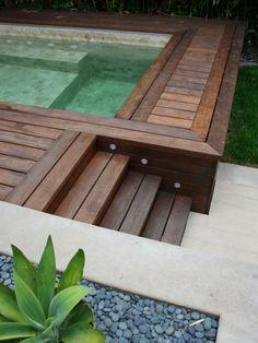 Hot tub area.  (I like the wood design)
