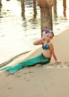 87ff647dc8ac44 Swimmable Mermaid Tail  Green - Mermaid Costume Kids