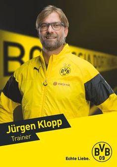Autogrammkarte von Jürgen Klopp , Trainer von Borussia Dortmund zur Saison 2014/2015