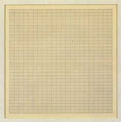 Agnes Martin - Works on paper, Ink on paper (27.9 x 27.9 cm.)