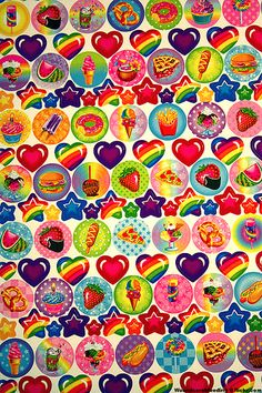 Lisa Frank stickers! I never got these as a kid because they were expensive and my parents didn't see the point in bright colorful stickers. Now that I can afford them, I don't need them. :(