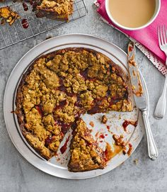 Happy-marriage-cake with rhubarb and ginger jam and oats