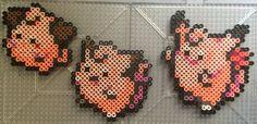 #035-#036, #173 Clefairy Family - Pokemon perler beads by TehMorrison