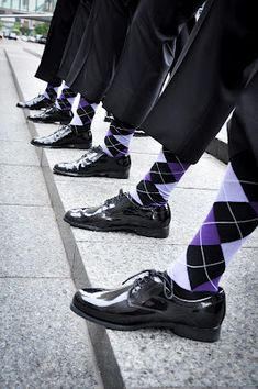 Have your groomsmen match your colors with socks!