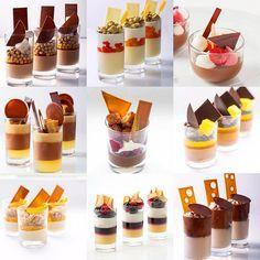 bachour s verrines bachour bachourclass Gourmet Desserts, Fancy Desserts, Plated Desserts, Dessert Recipes, Mini Dessert Cups, Dessert Table, Patisserie Fine, Dessert Shooters, Decoration Patisserie