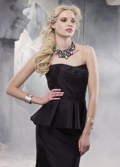 Sheath Column Strapless Floor Length Bridesmaid Dress Bbjh0197# landybridal Elegant fashion dream wedding dress style