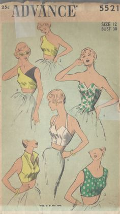 1950s-Vintage-Sewing-Pattern-B30-TOPS-R855