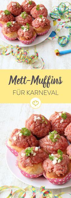 Helau und Alaaf! Der perfekte Snack zu Karneval - mit ordentlich Mett und Zwiebeln. Da simmer dabei!