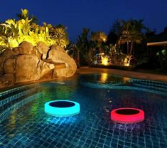 This LED Underwater Light comes with a Remote Control included: 7 Colour Changing from Red to Yellow, Green & Blue,Instantly transform your surrounding into a romantic atmosphere. IP68 100% Waterproof Underwater Light: Fully submersible and perfectly sealed, waterproof spotlight adds a dazzle of colours to your pond or swimming pool, use this Underwater Light in a pool or under water can for a long time, it will float on the water, totally safe with no electrical shock worries. Solar Charge: Floating Pool Lights, Pond Lights, Solar Lights, Deck Lighting, Water Lighting, Landscape Lighting, Swimming Pool Lights, Outdoor Swimming Pool, Swimming Pools