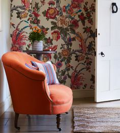 Decorators Best Historical Prints Design Inspiration GP J Baker Crayford Collection Pertelote Wallpaper Lee Jofa Woven Image, Gp&j Baker, Jungle Room, Fashion Gallery, British Style, Wingback Chair, Cozy House, Printing On Fabric, Accent Chairs