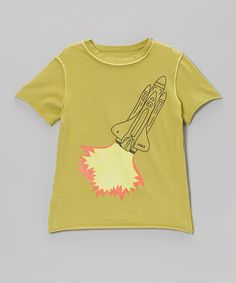 Take a look at this Pyrite Blast Off Raw-Edge Organic Tee - Toddler & Kids by Teres Kids on #zulily today!