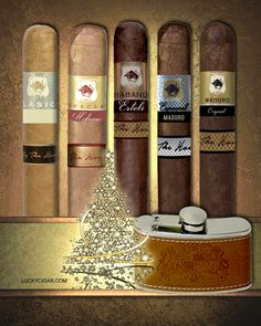 Cigar Sample sets of sizes and flavors The House of Lucky Cigar Collection