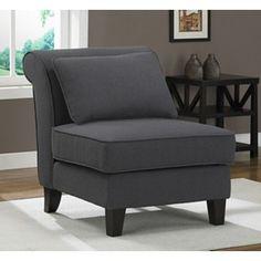 steel grey slipper chair $193