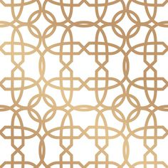 Chainlinx Self Adhesive Wallpaper in Gold by Cynthia Rowley for Tempaper