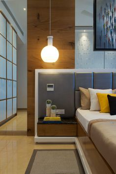 Interior Design by Gaurav Kharkar & Associates, Mumbai. Browse the largest collection of interior design photos designed by the finest interior designers in India. Bedroom Bed Design, Bedroom Furniture Design, Modern Bedroom Design, Bedroom Decor, Bedroom Designs, Bedroom Interiors, Master Bedroom, Bed Back Design, House Beds