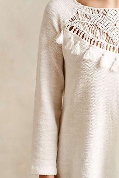 Anthropologie - Crochet Tassel Tunic