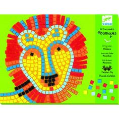 These Djeco Mosaics will provide endless fun for little craft makers!  Kids will love placing the foam squares on the template to create their own masterpiece.