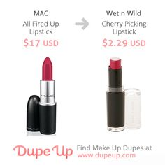 MAC All Fired Up lipstick dupe