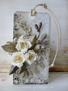 Lovely, monochromatic - would never have thought of gray for leaves, etc. Gallery of handicrafts