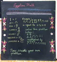Egyptian Math at Highland Hall Waldorf School  - 5th Grade