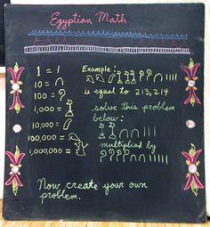 Egyptian Math at Highland Hall Waldorf School  - 5th Grade