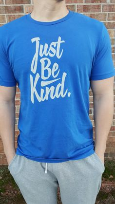 JUST BE KIND.  Men's T-Shirt. by JustBeKindClothing on Etsy Gents Wear, Trending Outfits, Mens Tops, How To Wear, T Shirt, Clothes, Etsy, Fashion, Supreme T Shirt