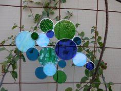 Stained Glass Circle/Bubble Panel Handmade by DesertGirlGlass