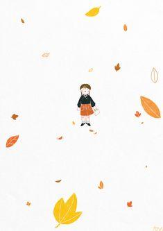 낙엽 - 디지털 아트, 일러스트레이션 Snoopy, Cartoon, Drawings, Illustration, Pop Art, Cute, Fictional Characters, Kawaii, Sketches