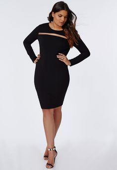 Plus Size Mesh Detail Dress - Plus Size Dresses - Women's plus size - Missguided +