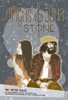 Angus and Julia Stone Posters | gig poster event poster for angus julia stone digital illustration